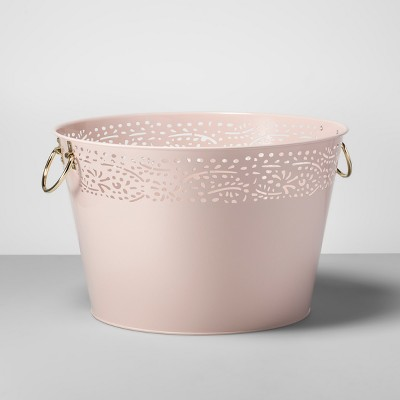 Steel Beverage Tub with Handles 6gal Pink - Opalhouse™