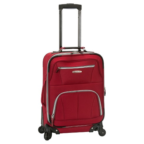 "Rockland Pasadena Expandable Spinner Carry On Suitcase - Red (19"") - image 1 of 1"