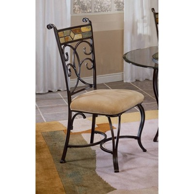 Hillsdale Furniture Pompeii Dining Chair - Black/Gold (Set of 2)