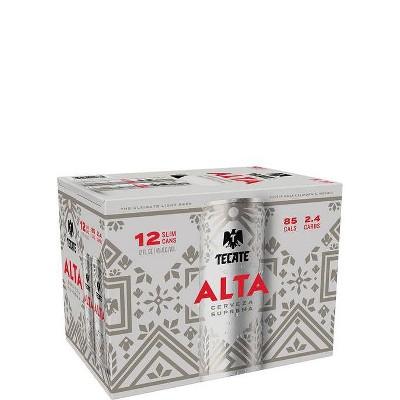 Tecate Alta Lager Beer - 12pk/12 fl oz Cans