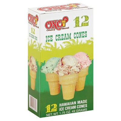 Ono Ice Cream Cones - 1.75oz/12ct