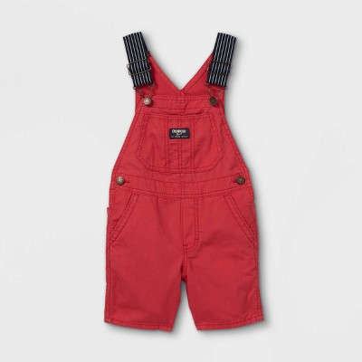 OshKosh B'gosh Toddler Boys' Woven Shortalls - Red