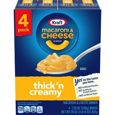 Kraft Mac & Cheese Thick & Creamy - 4Pk