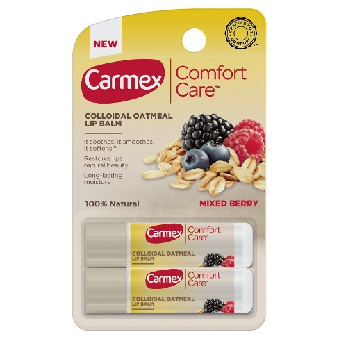 Carmex Comfort Care Mixed Berry Lip Balm - 2pk - image 1 of 3