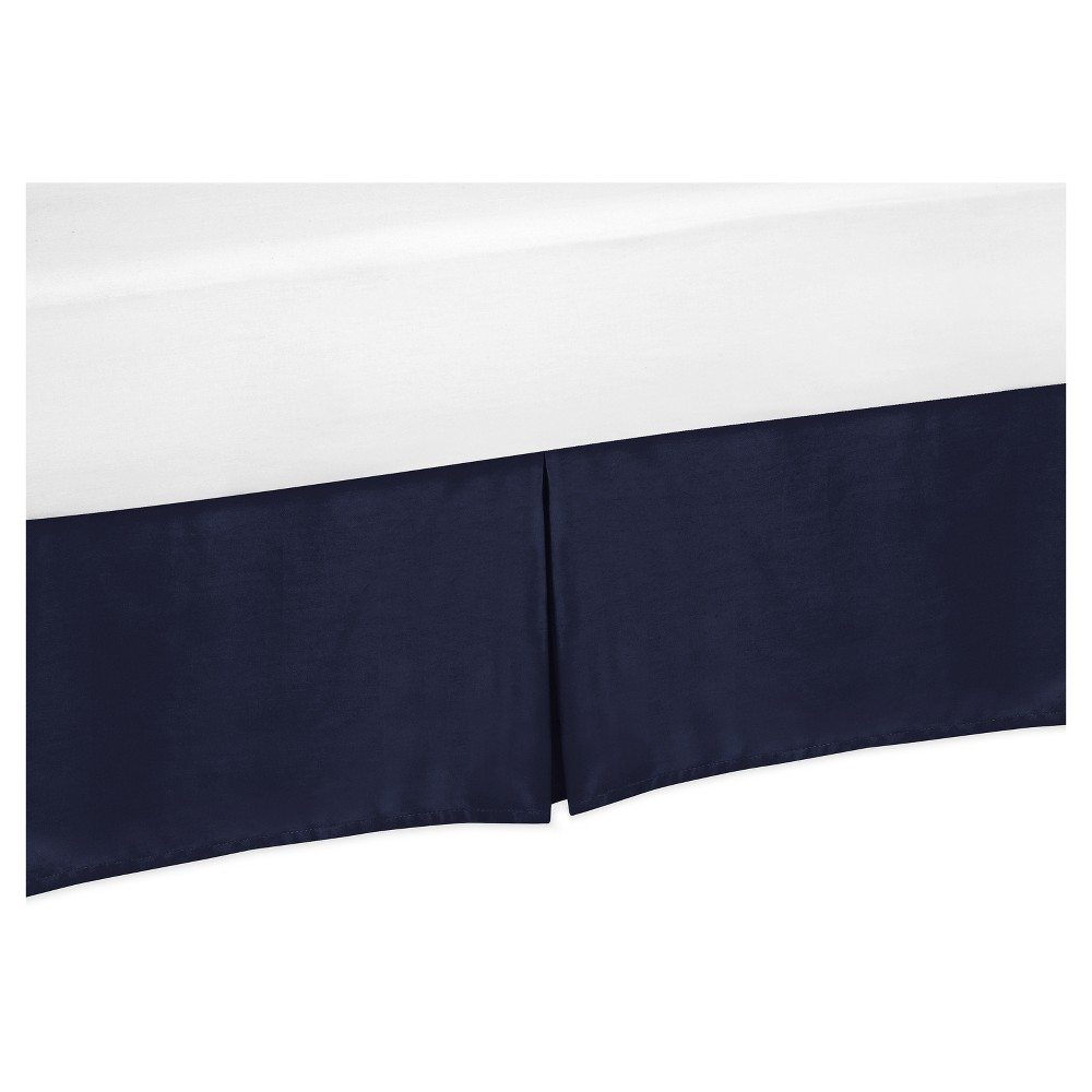Navy Bed Skirt - Sweet Jojo Designs