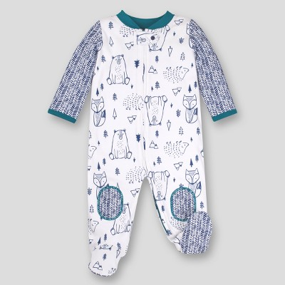 Lamaze Baby Boys' Organic Cotton Woodland Sleep 'N Play - Blue Newborn