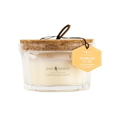 7.2oz Glass Jar 3-Wick Candle Wild Honey Shea - Chesapeake Bay Candle