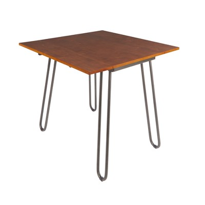 Henry Drop Leaf Table with Hairpin Legs Brown - Silverwood