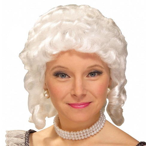 Halloween Women s Colonial Adult Costume Wig White   Target 24917527db