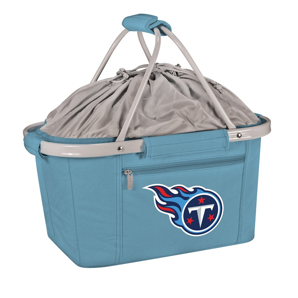 Picnic Time NFL Tennessee Titans Metro Basket Collapsible Tote - Sky Blue