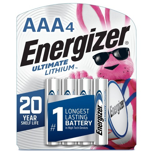 Energizer 4pk Ultimate Lithium AAA Batteries - image 1 of 2