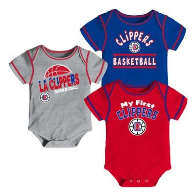 Los Angeles Clippers Boys' Rookie 3pk Body Suit Set 0-3M