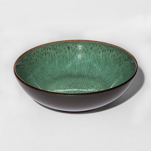 Belmont Stoneware Cereal Bowl 30oz Green/Brown - Threshold™ - image 1 of 1