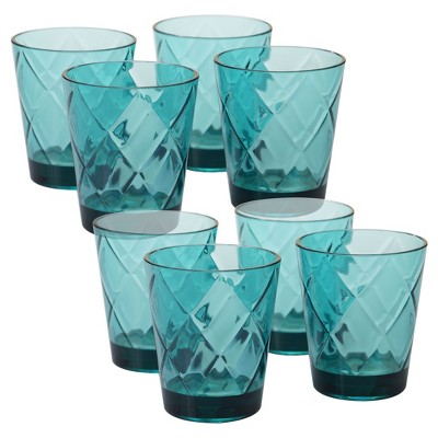 Certified International® Diamond Acrylic Tumblers 15oz Teal - Set of 8