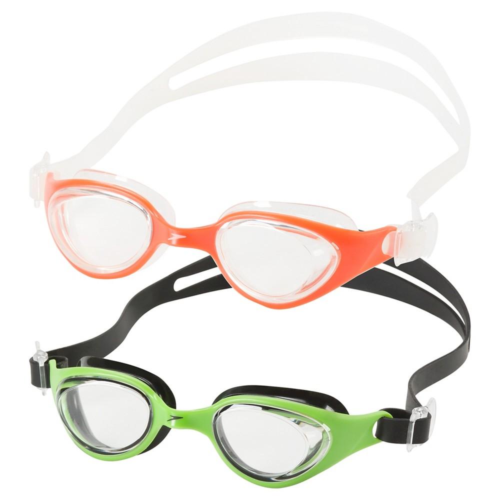 Speedo Scuba Junior Goggle 2-Pack (Green/Orange)