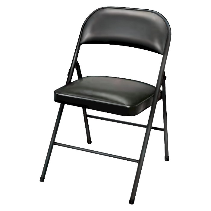 Folding Chair Vinyl Padded Black - Plastic Dev Group - image 1 of 2