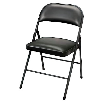 Delicieux Folding Chair Vinyl Padded Black   Plastic Dev Group