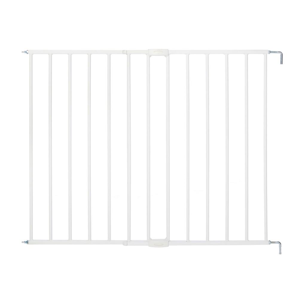 Image of North States Essential Stairway Thru Baby Gate - White 24.5-42.0