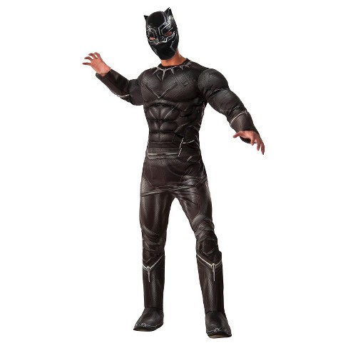 Captain America Civil War Men's Marvel's Deluxe Men's Black Panther Costume One Size - image 1 of 1