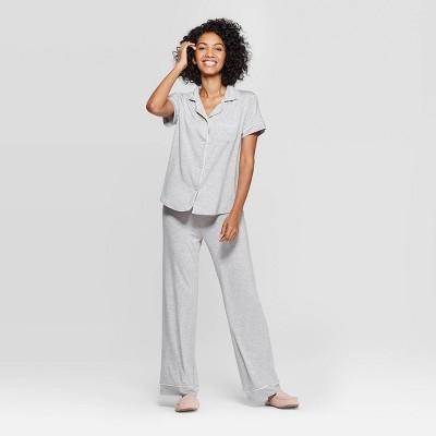 Women's Beautifully Soft Notch Collar Pajama Set - Stars Above™ Heather Gray S