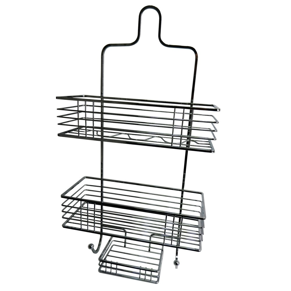 Shower Caddy with Soap Tray Light Silver 21.55 - Elegant Home Fashions