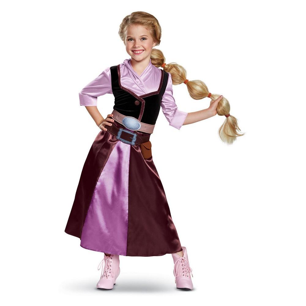 Girls' Disney Princess Tangled Rapunzel Halloween Costume M, Purple