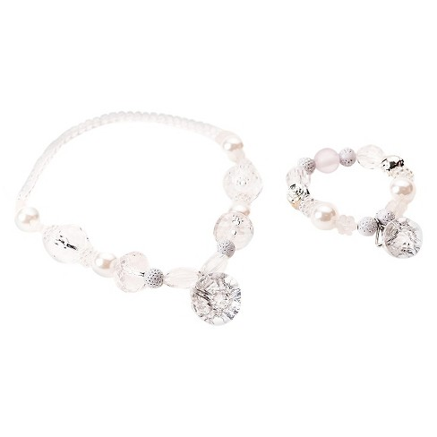 Little Adventures Chunky Jewelry - White-Crystal Diamond Set - image 1 of 1