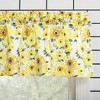 "14""x54"" Sunflower Print Semi Sheer Rod Pocket Kitchen Curtain Valance Yellow - No. 918 - image 2 of 4"