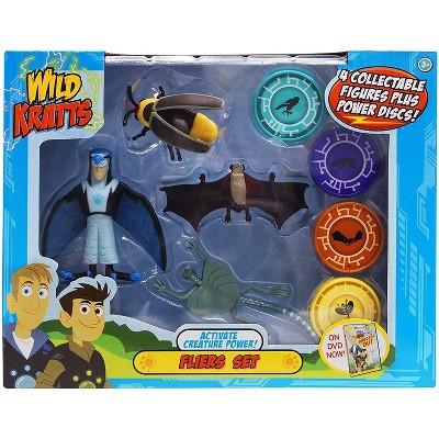 Jazwares Wild Kratts Action Figure Toy Set - Activate Creature Power - Fliers, Set of 4