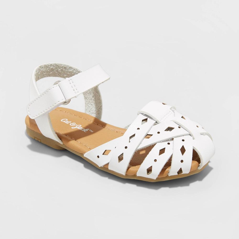 Image of Toddler Girls' Elysia Huarache sandals - Cat & Jack White 10, Toddler Girl's