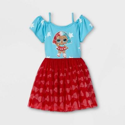 Girls' L.O.L. Surprise! A-Line Tutu Dress - Blue/Red