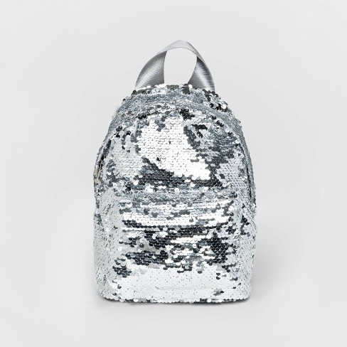 Reversible Sequin Backpack - Wild Fable™ Silver - image 1 of 4
