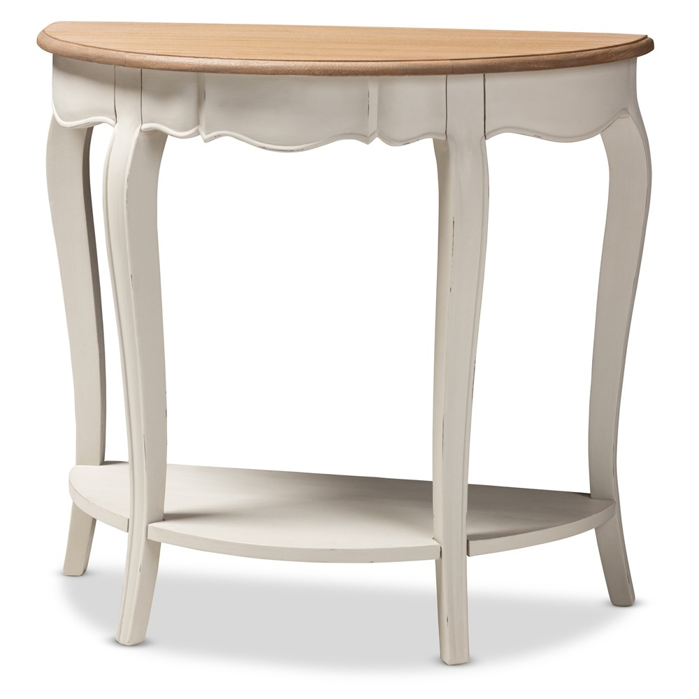 Cordelia Finished Console Table White - Baxton Studio