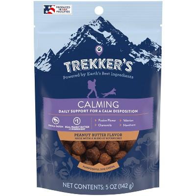 Trekker's Chewy Dog Treats Calming Peanut Butter Flavor - 5oz Pouch
