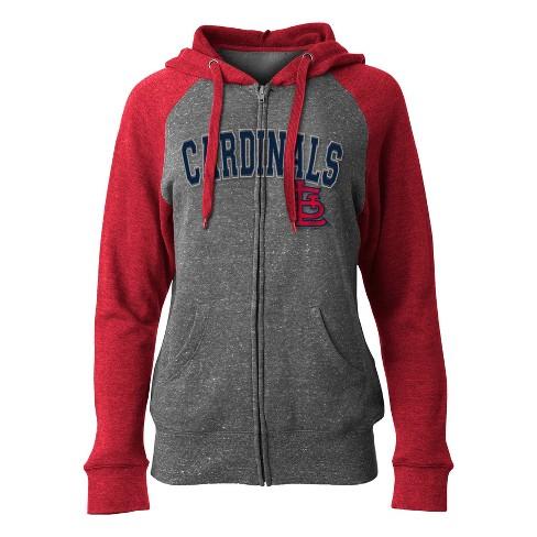 size 40 2e7ac 8d432 MLB St. Louis Cardinals Women's On Deck Full Zip Hoodie