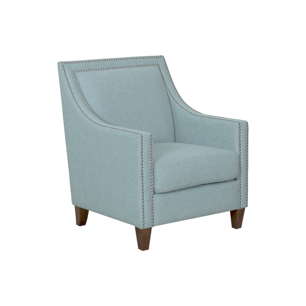 Edwin Arm Chair with Nailheads Light Blue - Homepop was $399.99 now $299.99 (25.0% off)