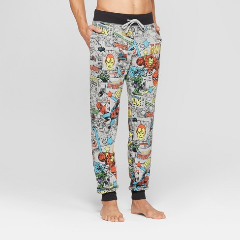 Men's Marvel Avengers Novelty Pajama Pants - Light Gray Heather - image 1 of 2