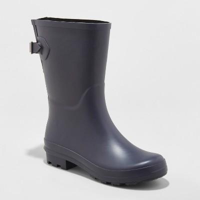 Women's Vicki Mid Calf Rubber Rain Boots - A New Day™