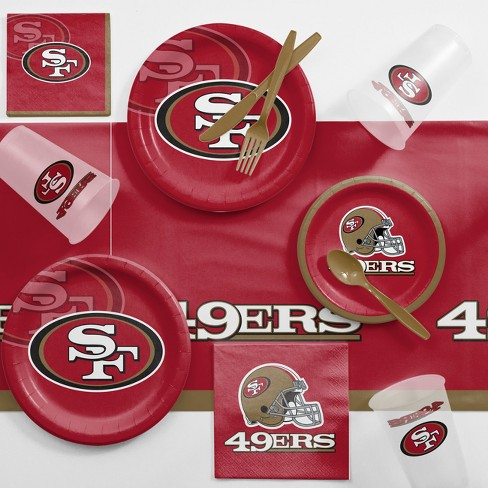 NFL Red And Brown San Francisco 49Ers Game Day Party Supplies Kit