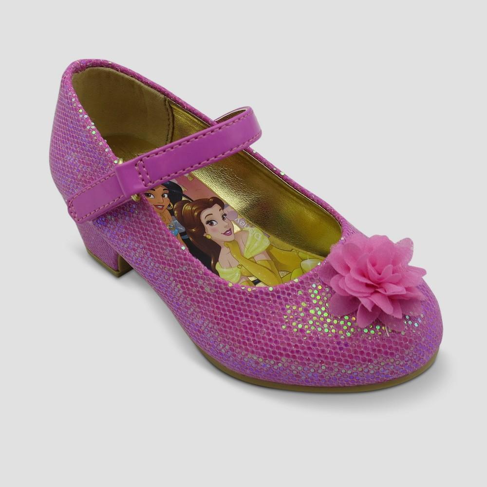 Toddler Girls' Disney Princess Dress Ballet Flats - Pink 9