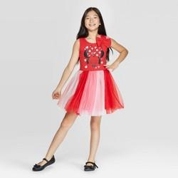 Girls' Disney Minnie Mouse Valentine's Day Sleeveless Dress - Red
