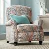 Elm Lane Ethel Coral Paisley Push Back Recliner Chair - image 2 of 4