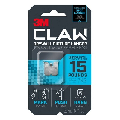 3M 15 lb CLAW Drywall Picture Hanger with Spot Marker