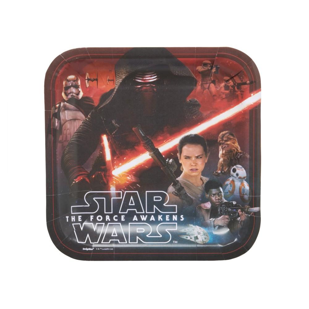 40ct Star Wars: Episode Vii Square Dinner Plates