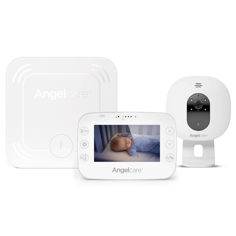 Image of Angelcare AC327 Baby Breathing Monitor with Video, Brown Gray