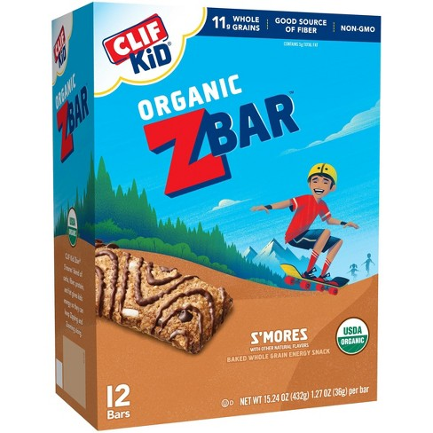 Clif Kid Z Bar Organic S'Mores Energy Bars - 12ct - image 1 of 3