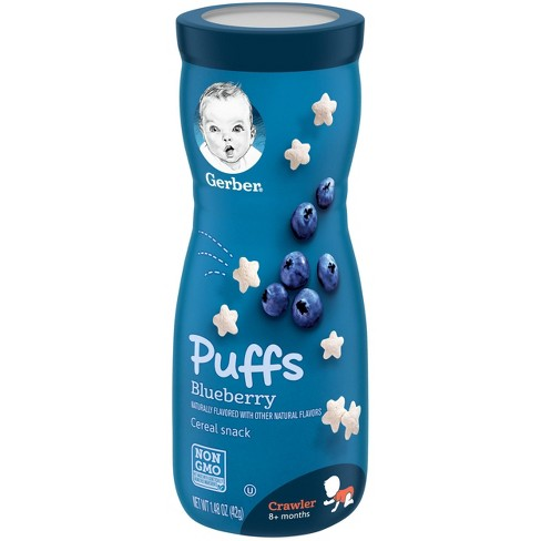 Gerber Puffs Blueberry Non-GMO Cereal Snack - 1.48oz - image 1 of 4