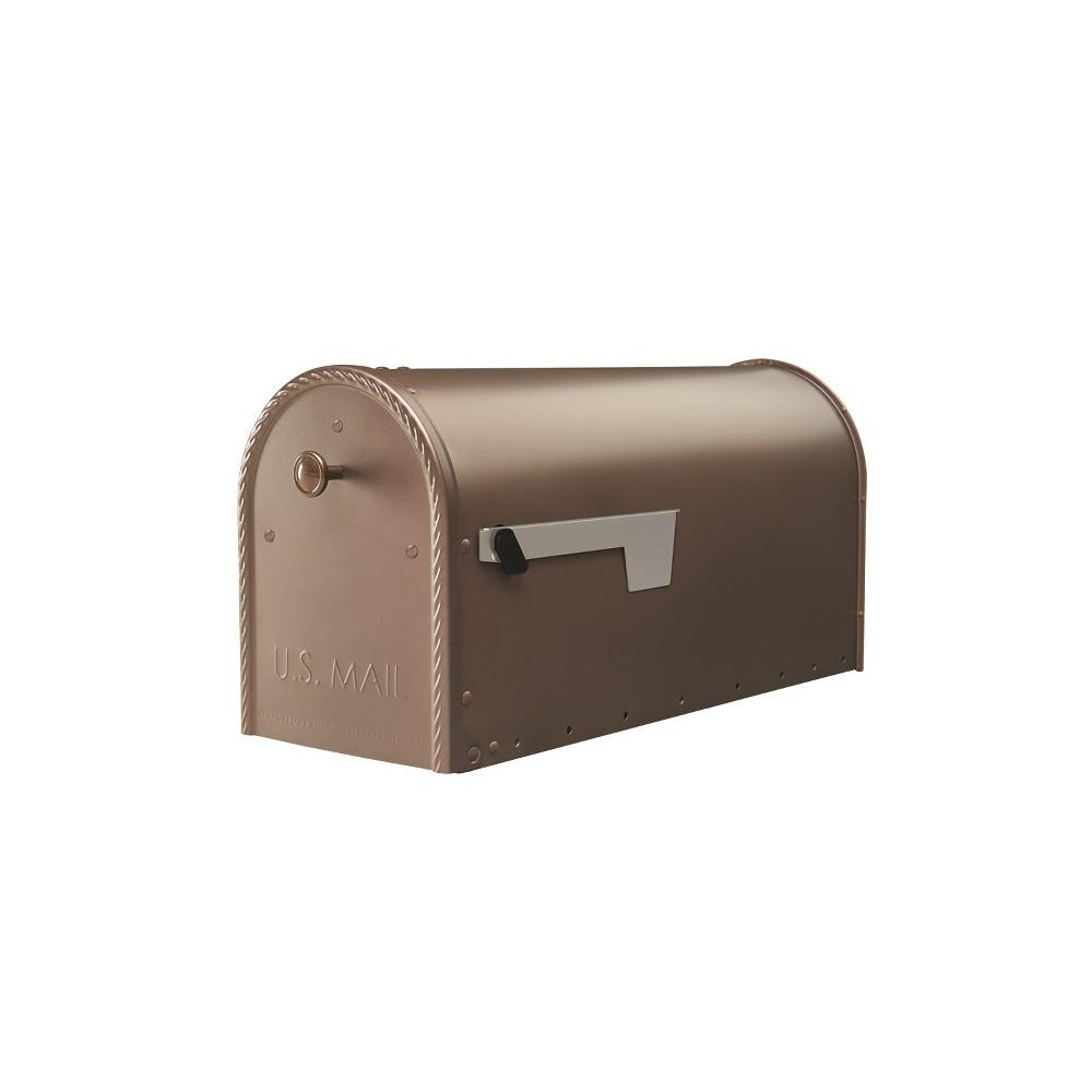 Edwards Post Mount Mailbox Bronze - Gibraltar