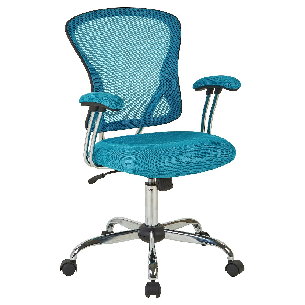Image of Ave Six Juliana Task Chair Blue Mesh - Office Star