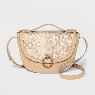 Saddle Handbag Bag With Ring - Universal Thread™ Tan
